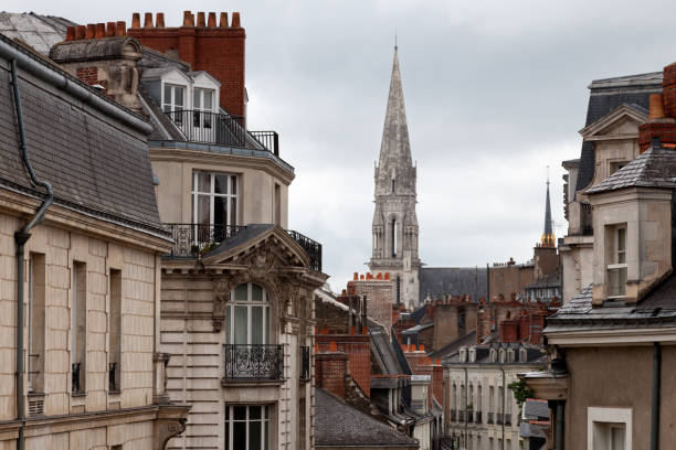 Investissement immobilier Nantes. Vue sur les toits de Nantes avec en arrière plan la basilique de st Nicolas