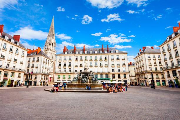 Investir immobilier Nantes. place royale à Nantes en pleine journée.