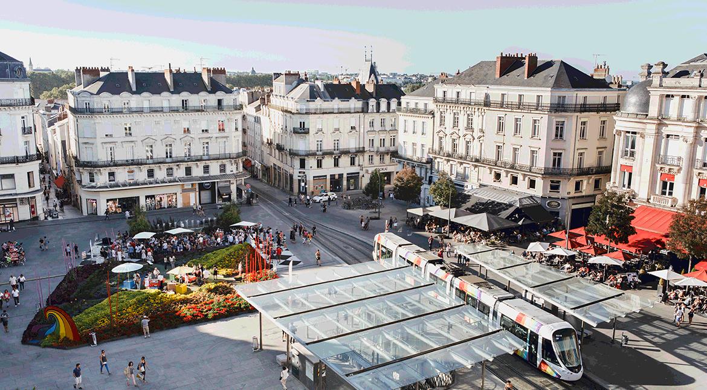 loi Pinel Angers. Quartier d'Angers en plein jour