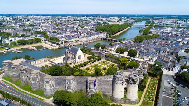 loi pinel angers. Vue aérienne du château d'Angers