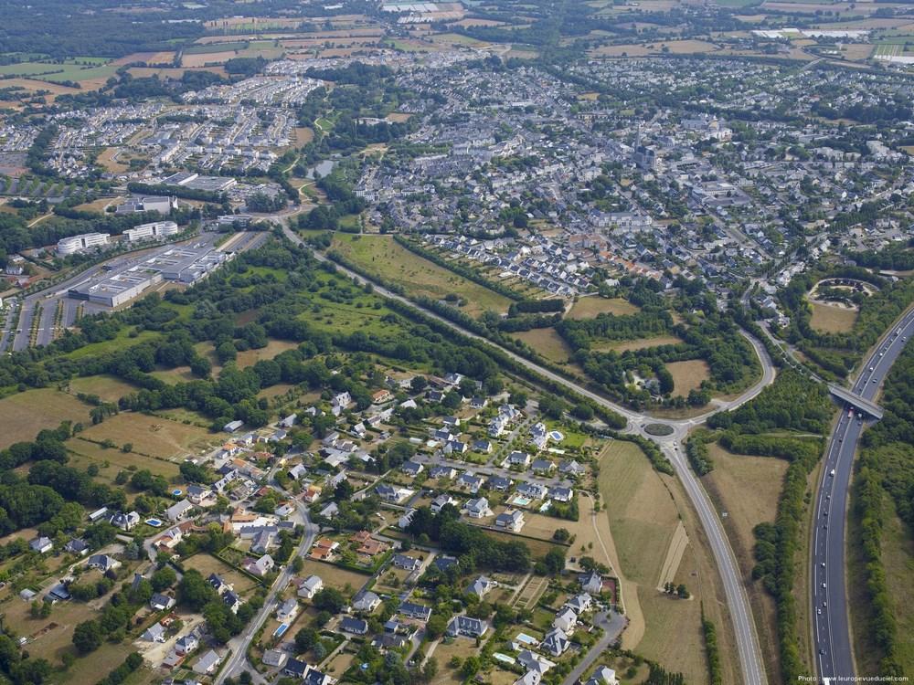 Immobilier Carquefou. Vue aérienne de Carquefou