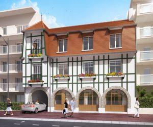 investissement immo-façade immeuble rue passants