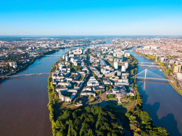 Plafond Pinel 2021. Ville de Nantes vu aérienne.