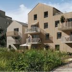 acheter un appartement pour le louer-résidence neuve espaces verts ciel bleu