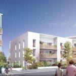 appartement loi pinel-résidence neuve rue arbres passants ciel bleu