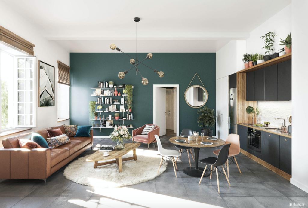 simulation déficit foncier-séjour meublé cuisine équipée fenêtre ouverte
