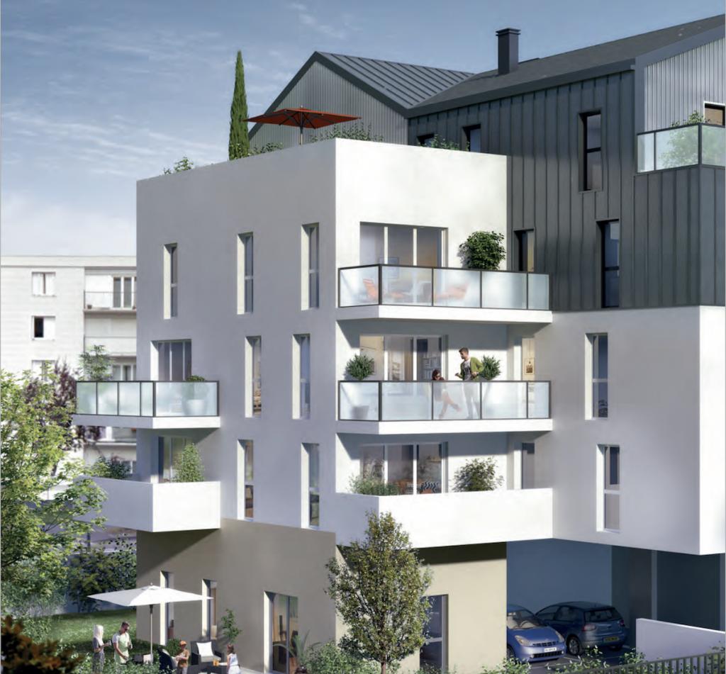 acheter un appartement-résidence neuve espaces verts ciel bleu