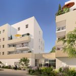 immobilier neuf nantes-résidence neuve espaces verts ciel bleu