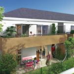 immobilier sables d'olonne-résidence neuve terrasses plantes habitants ciel bleu