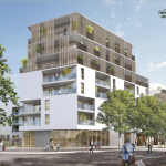 investissement locatif clé en main-résidence neuve rue arbres passants ciel bleu