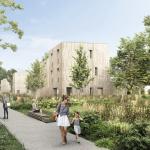 investissement locatif clé en main-résidence neuve allée centrale jardin habitants ciel bleu