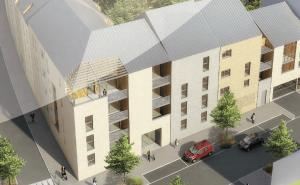 investisseur immobilier-résidence neuve rue passants voitures