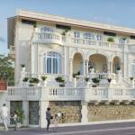 défiscalisation monument historique-belle bâtisse ancienne rue passants ciel bleu