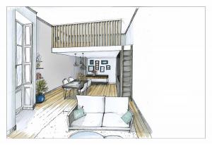 investir en immobilier-croquis d'un appartement meublé