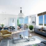 pinel nantes-séjour meublé 3 grandes fenêtres vue sur la terrasse